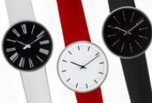 Arne Jacobsen / Arne Jacobsen ure .... Bankers, Roman eller City Hall - de orginale ure er nu lavet som både vækkeur, væg ur og armbåndsur ! Stilfuldt og enkelt design.