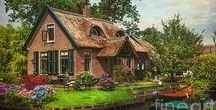! Giethoorn. Netherlands Fine Art Prints for Home Decor by Jenny Rainbow ! / Giethoorn, also known as the Venice of the North, is a beautiful village in the Netherlands. The travelers who adventure here are truly mesmerized by the atmosphere,canals, small wooden bridges, vivid flowers and colorful 200 year old homes. Available as canvas, framed prints, metallic and acrylic prints. Order and payment online, delivery. 30 days money back guaranty. To start shopping just click on chosen pin. Enjoy! . #JennyRainbowFineArtPhotography  Netherlands, Giethoorn