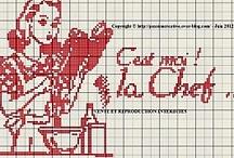 Grille Broderie / Embroidery ★ / Des grilles de Broderie qui me font envies... de jolies réalisations ♡