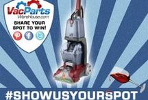 """#ShowUsYourSpot Contest! / We're giving away a Hoover Powerscrub this month! Just pin your carpet spot and say """"#showusyourspot contest entry"""" to enter!"""
