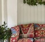 Recycled Plastic Handwoven Cushions & Foot Stools / Beautiful, soft and eco-friendly cushions handmade from 100% recycled plastic bottles - perfect for indoor or outdoor use.