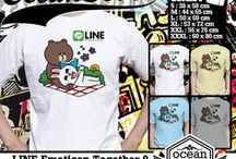 LINE Emoticon Together T-Shirt / T-shirt from my kiosk online about LINE Emoticon Together if you interested about my t-shirt you can contact me at  Yahoo_ID: ourkios or Blackberry Messenger : 27BD1F27