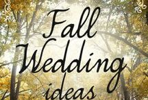 Fall Wedding Ideas / Getting Married in the fall?  Check out these ideas!