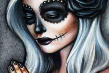 Candy/Sugar Skulls + Zombie/Voodoo Dolls!!! / Day of the Dead Masks and Dolls.  Dia de los muertos