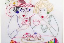 Friendship in Fabric and Thread / friendship inspired projects made from fabric and thread