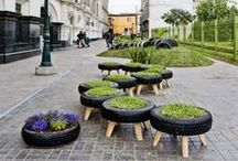 recycled tires, tire projects / put old, useless, landfill tires to good use..repurpose them / by Solarponics