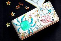 Bijoux pochettes / Handpainted with love on luxury italian silk