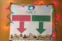 The Doors of NACE!  December 2014 / NACE staff take part in a holiday door decorating contest. Check out the winning and also-ran doors!  / by NACE