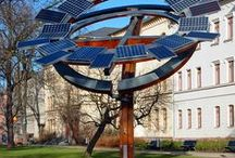 solar energy sculptures / There are many creative and unique sculptures and architectural displays incorporating solar electric panel technology. / by Solarponics