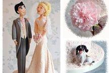 Wedding and aniversary cakes / Queques, decoración, moldes y toppers para su boda, aniversario o san Valentín. / by alejandra hernandez guzman