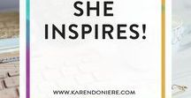She Inspires! / Interviews with inspiring women who love what they do!
