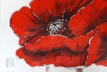 Tableaux peinture fleurs