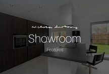 Showroom Features / Appliances and kitchen features showcased in Nicholas Anthony showrooms.