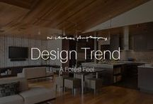 Design Trend | A Forest Feel / A latest trend in architecture and interior design based around the heart of the home, the kitchen.