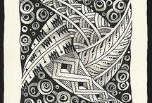 Zentangles / Zen is line to infinite