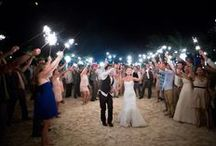 Concept #4: night beach surf bonfire wedding / 4th wedding idea to make a booklet for. Ceremony at night on the beach in summer, bonfire afterwards for reception with fish and chips and toasting marshmallows, guests can bring a surf board and go swimming after ceremony - summer colours.