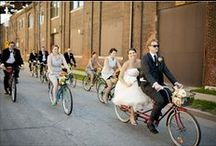Concept #9: Roving reception cycling wedding