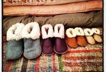 ★SLIPPERS★ / Handmade Lambskin Booties