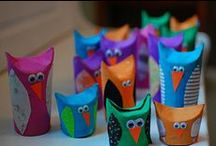 Recycled Crafts / Craft ideas for young children that make use of recycled materials