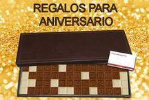 Regalos Originales para Aniversario :: Chocotelegrama :: / Frases para poner en un Chocotelegrama de Regalo de Aniversario #REGALOSANIVERSARIO #REGALOS #RegalosParaAniversario