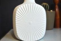 Op art vases