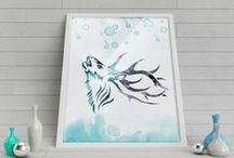 Watercolor Art / Watercolor Print, instant download, Watercolor poster, digital poster, Home Decor, Watercolor Art