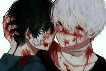 Tokyo Ghoul (black&white) / Kuroneki + Shironeki + Sasaki | Kuro + Shiro