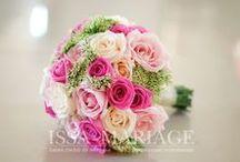 Buchet mireasa din trandafiri in nuante de roz / buchet mireasa si nasa din trandafiri in nuante de roz
