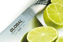 Global Knives - G Series / From very modest beginnings Global has developed into one of the most successful brands of professional kitchen knives in the world.  Still crafted by hand in Yoshikin's factory in Niigata, Japan, Global knives are manufactured to extremely high and exacting standards.  The G Series is a classic collection of large Global knives.