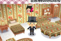 Rose 薔薇デザイン Animal Crossing QR Codes / Animal Crossing New Leaf: My design QR Codes とびだせ どうぶつの森 amiibo+ QRコード