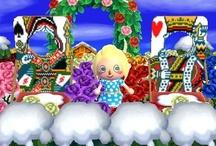 Alice in Wonderland Animal Crossing QR Codes / Animal Crossing New Leaf: My design QR Codes とびだせ どうぶつの森 amiibo+ QRコード