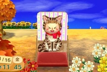 Cat ネコデザイン Animal Crossing QR Codes / Animal Crossing New Leaf: My design QR Codes とびだせ どうぶつの森 amiibo+ QRコード