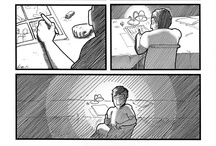 B&W comics / http://www.lutisart.com/p/fumetti.html