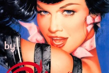 Bettie Page Art / Bettie Page loved the camera and the camera loved her. With her perfect 36-24-35 figure, blue eyes and long hair.