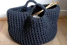 crochet baskets, jars, bowls
