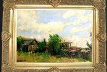 Peisaje / Case romanesti... / http://pictor-george-paunescu.shopmania.biz/