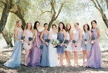 Brudtärneklänningar / Ideér till klänningar som skulle kunna fungera tillsammans på the Big Day.