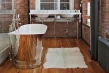 INSPIRATION: Bathrooms / Ideoita kylpyhuoneisiin ja wc -tiloihin. / Ideas for bathrooms.