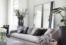 INSPIRATION: Livingrooms / Ideoita seesteisiin olohuoneisiin. / Ideas for tranquil livingrooms.