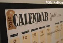 DIY: Seinäkalenteri / Calendar