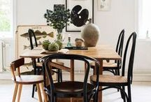 INSPIRATION: Dining areas / Kauniita ruokailuryhmiä. / Beautiful dining areas.
