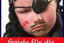 pirate party ° piratenparty / Partyideen für wilde Piraten und Seeräuber. Originelle Deko, leckere Rezepte und witzige Spiel- und Bastelideen für die Piratenparty.  / by partyshop - yokki.de