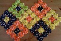 quilt . yo yo . fuxico, flores de tela / by Cris Salcedo