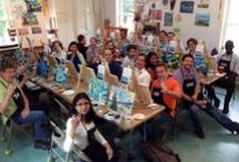 Masters and Mixers / Have some fun with friends, a blank canvas, and beverages of your choice. We provide the paints, supplies, and instruction. You provide the beverage and snack of your choice. An instructor will guide you through an original painting while you enjoy a drink and socializing with friends. At the end of the evening you will bring home a finished painting and a great memory. Uncork your creativity! Call us at 203-544-8551 to arrange a private party, a girl's night out, or a corporate event or Team Building event.
