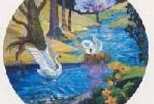Swans in any shape or form / Zwaan als Totemdier: Toekomst, dromen, elegantie, koesterend, schoonheid, goddelijke inspiratie, volharding, bescherming, zorgvuldigheid en trouw, moederlijkheid, vrouwelijke gratie, bewustwording van de ware schoonheid, vertrouwen, macht van het zelf, vergiffenis, elegantie. / by Cathalijn Brunner