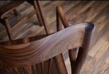 "Chaise droite | Dining chair / Chaise style ""mid century"" conçue et fabriquée par Maxime Poisson, ébéniste / Mid century style dining chair designed and made by Maxime Poisson, chairmaker"