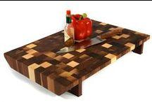Cutting board / Bloc Poisson cutting boards and butcher blocks.