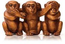 2016 год- год обезьянки!! / Фото обезьянок, очаровательных животных, которые во многом напоминают человека. Скульптурки. Бытовые мелочи. Куклы. И все- обезьянки!