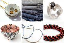 New Member Showcase I (21.01.16 - 20.02.16) / A showcase of work by our newest members: Sophie Stamp (jewellery), Laura Adburgham (textiles), Josef Koppmann (jewellery), Zoë Hillyard (textiles), Hendrike Barz Meltzer (jewellery) and Tania Clarke Hall (jewellery).
