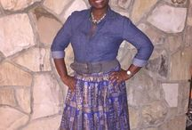How to style an African skirt / Ideas on wearing African skirts.